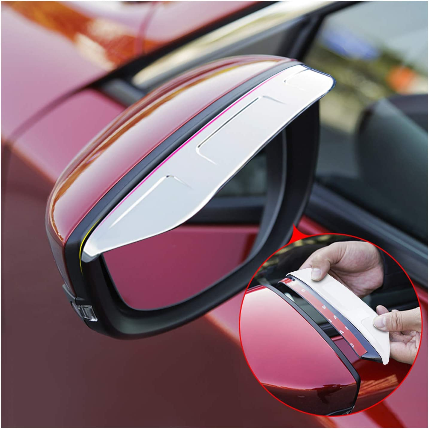 2 ST/ÜCKE CDEFG Auto R/ückspiegel Regenschutz f/ür CX-30 CX30 Seitenspiegel Regen Schild Abdeckung Auto Zubeh/ör