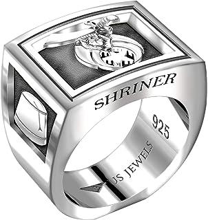 UNIQABLE Masonic Shriner Scottish Rite 32 Degree Ring 18K Gold PLD