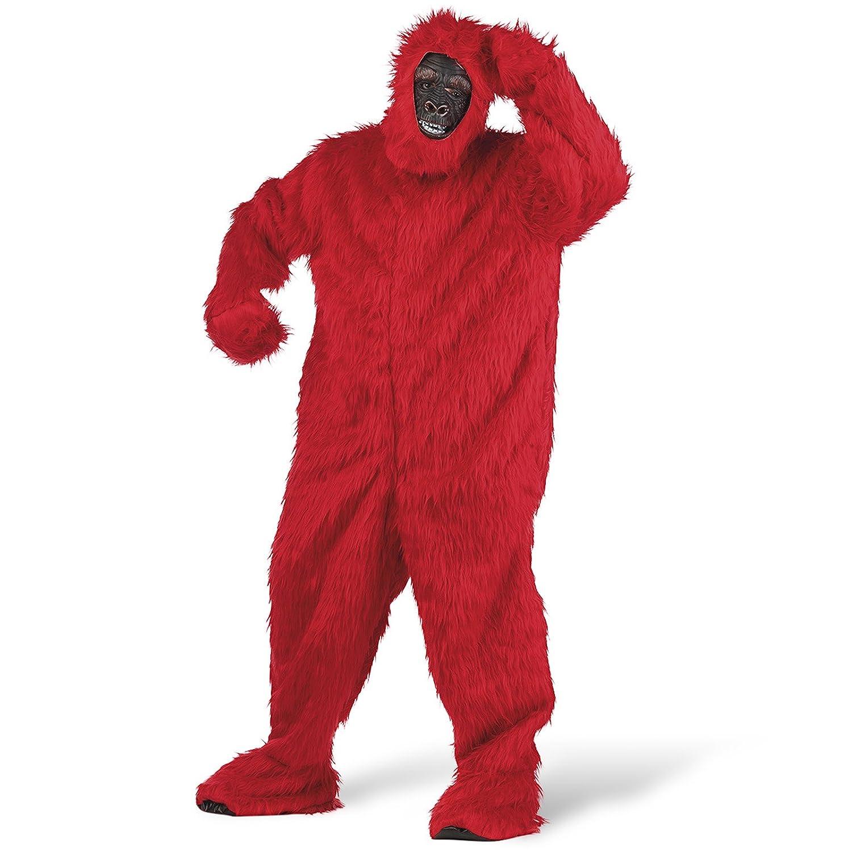 XL Limit Sport – Kostüm Plüsch Gorilla für Erwachsene, Rot, Größe XL (ma067r)
