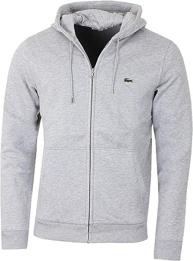 sweatshirt zippé lacoste homme