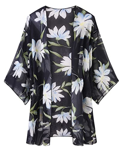 Womens Oversized Summer Floral Cardigan