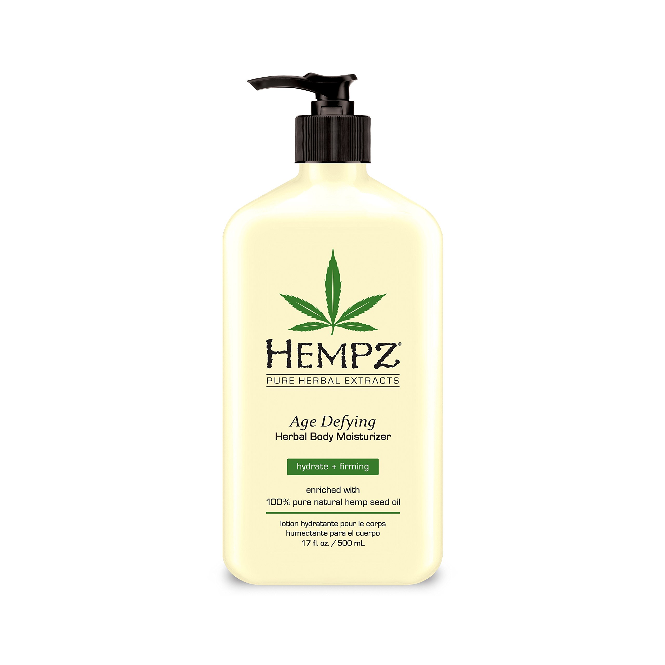 Hempz Body Moisturizer - Daily Herbal Moisturizer, Shea Butter Anti-Aging Body Moisturizer - Body Lotion, Hemp Extract Lotion - Skin Care Products, 100% Pure Organic Hemp Seed Oil