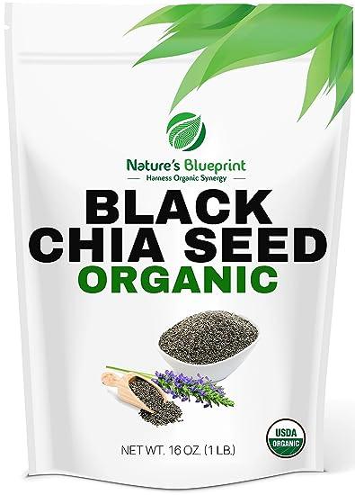 Chia Seeds-USDA Organic & RAW, NON-GMO, Vegan Plant Protein,