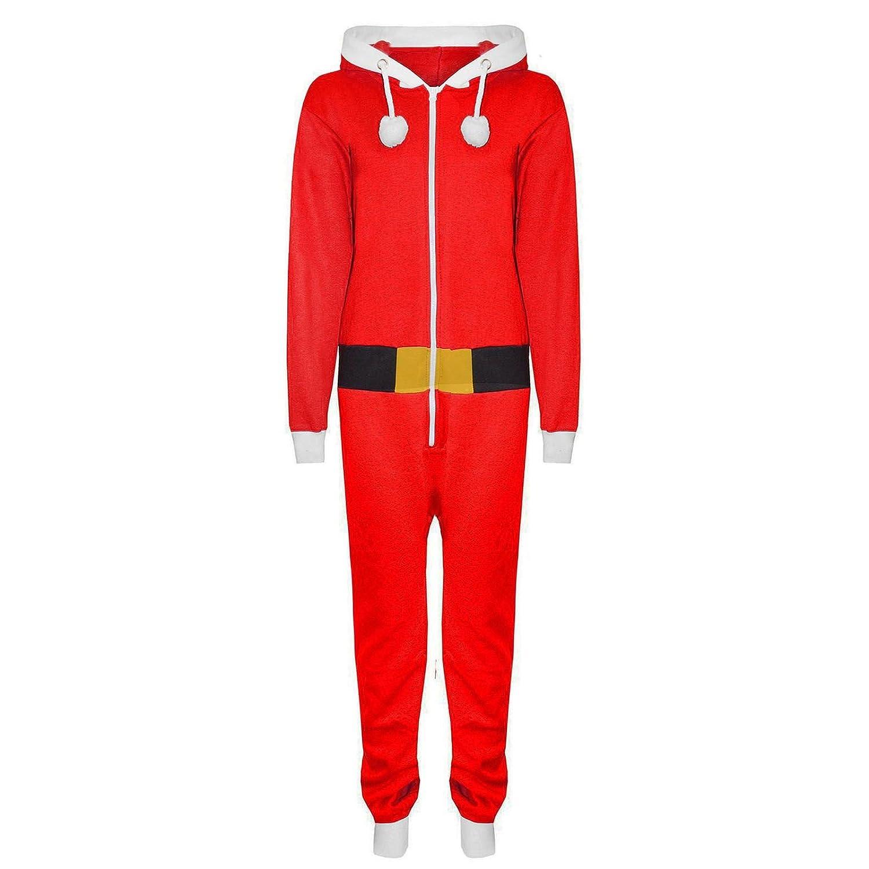Momo& Ayat Fashions Kids Children Boys Girls Elf Santa Helper Christmas Jumpsuit All in One Onesie Age 7-13 Years
