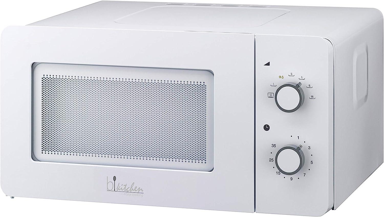 Bkitchen Mini 150 Blanco Microondas 600W, 15L, Mesa Giratoria de Vidrio (Diam.25,5 Cm), Horno de Microondas