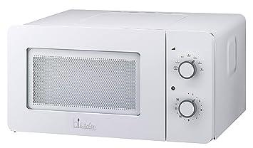 bkitchen mini 150 blanco microondas 600W, 15l, mesa giratoria de vidrio (Ø 25,5 cm), horno de microondas