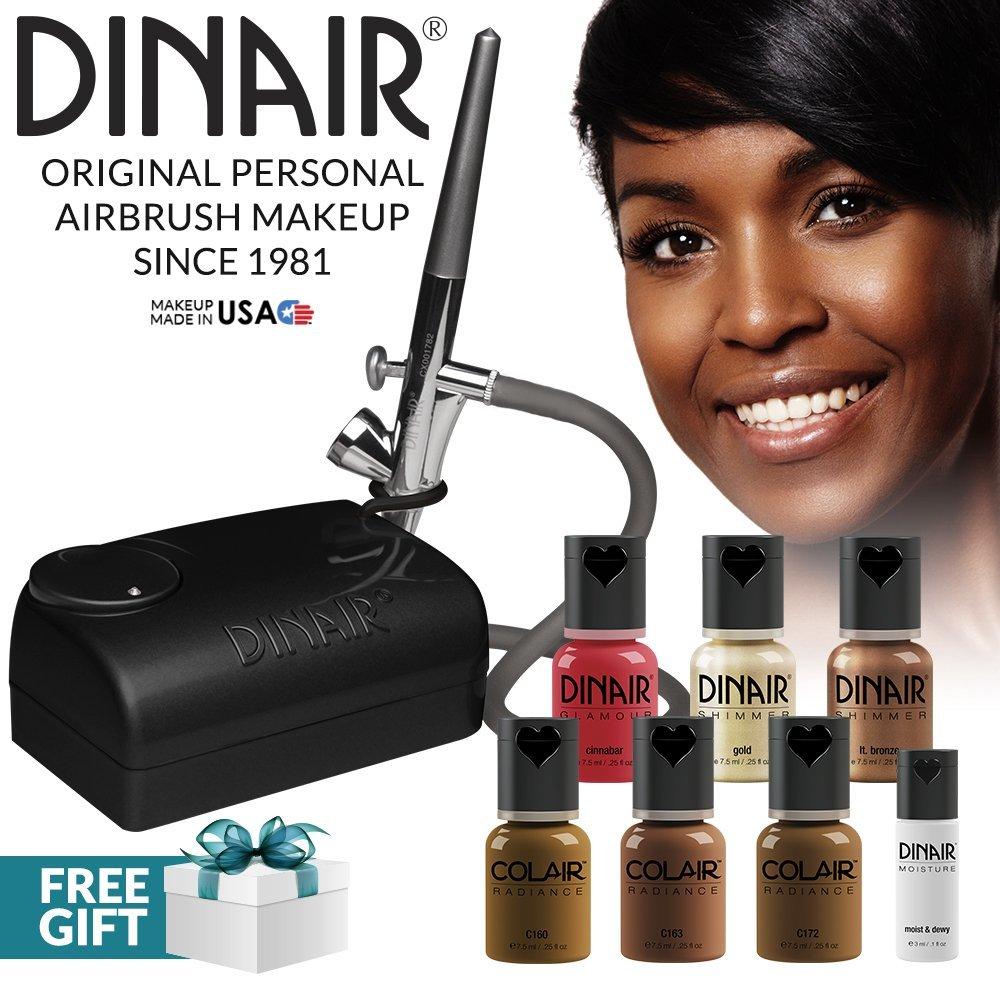 The Original: Dinair Airbrush Makeup Starter Kit | Dark Shades | Foundation