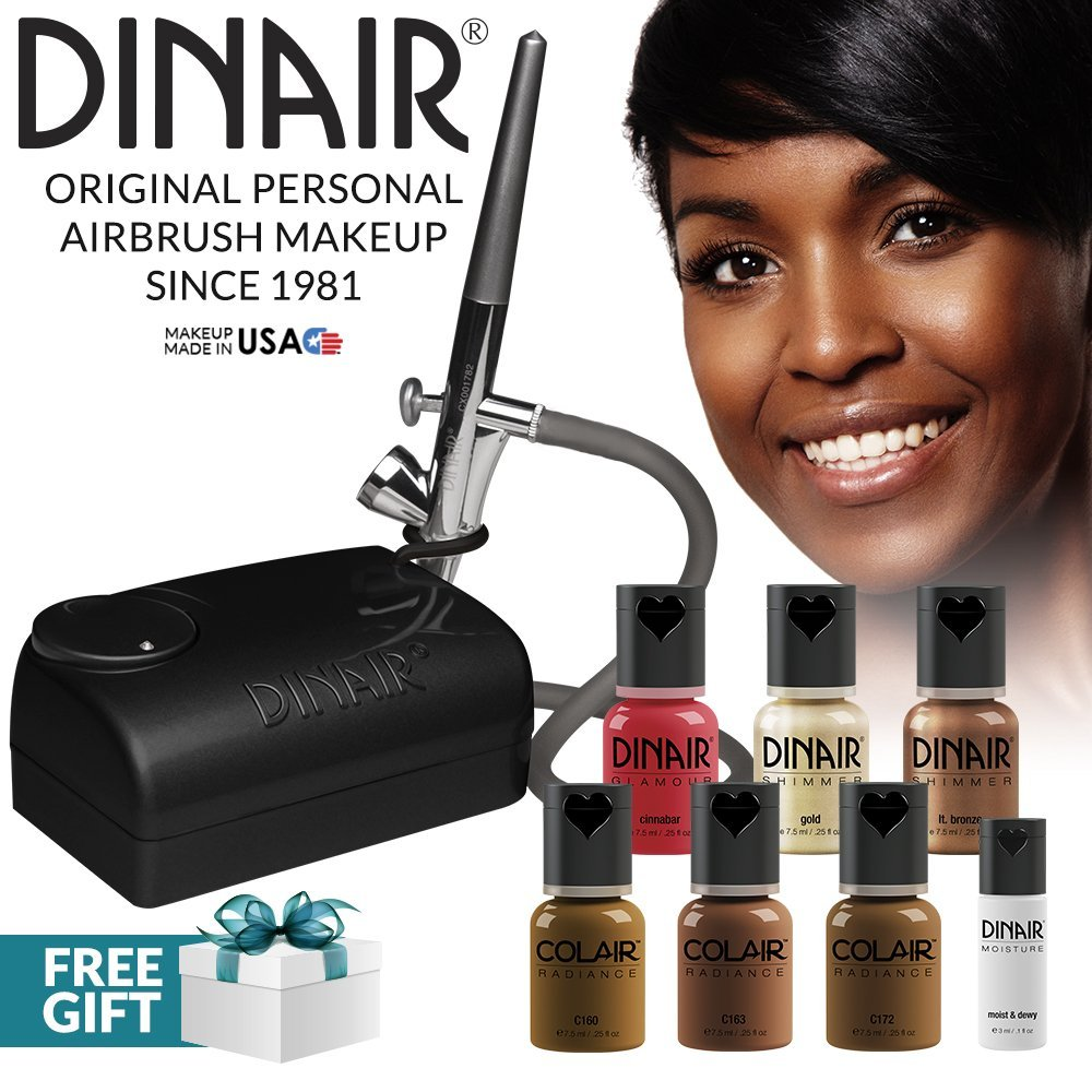 The Original: Dinair Airbrush Makeup Starter Kit | Dark Shades | Foundation by Dinair