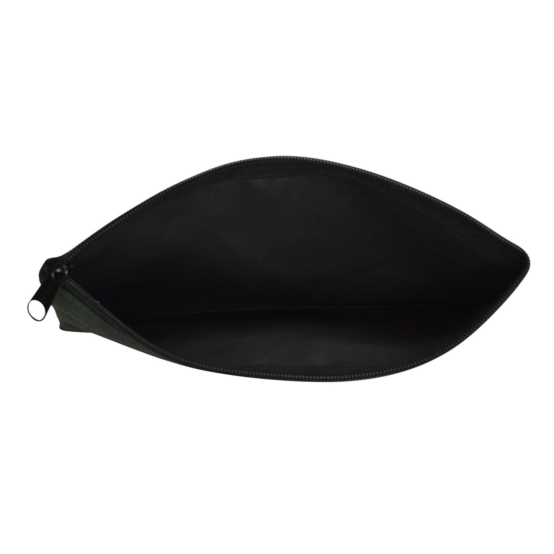 DALIX Zipper Bank Deposit Money Bags Cash Coin Pouch 6 Pack in Black