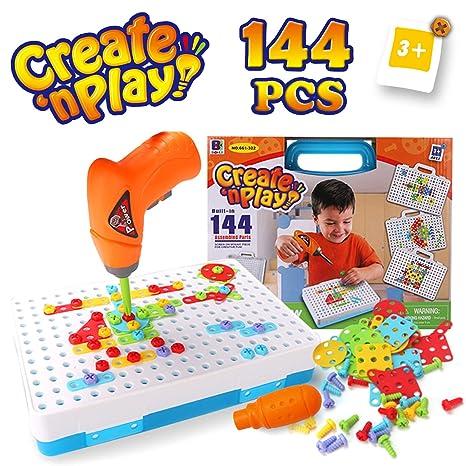 7610781fc0 SYOSIN Trapano Giocattolo 3D Puzzle con Cacciavite Chiodini Mosaico Giochi  Educativi Costruzioni STEM Educativi Giocattoli Montessori