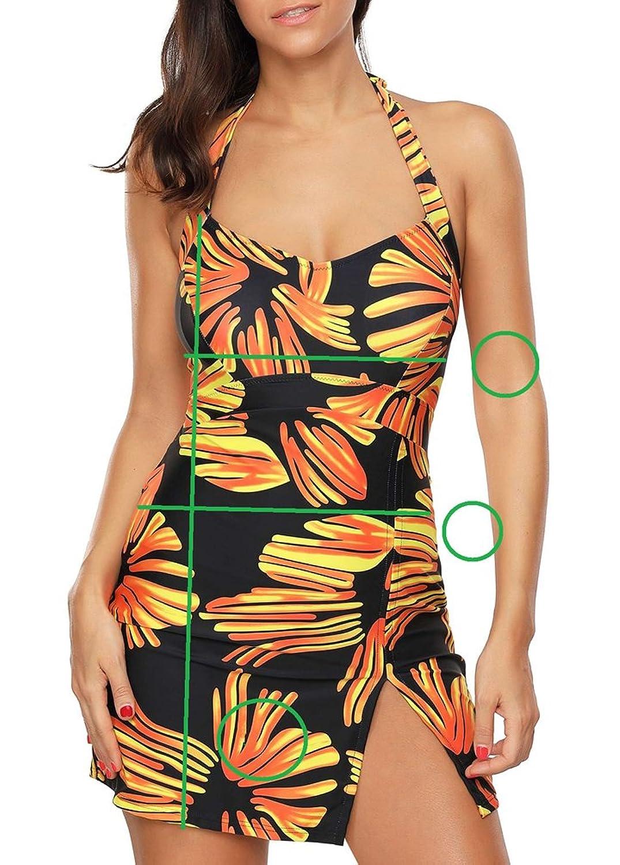 oodji Ultra Damen Mini-Kleid mit Flockdruck