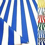 TOLKO Sonnenschutz CLASSIC Markisen-Stoff Meterware zum Nähen mit UV-Schutz 50+   Wasserdicht, Extra Langlebig - ohne Ausbleichen, 120cm Breite (Blau-Weiß)
