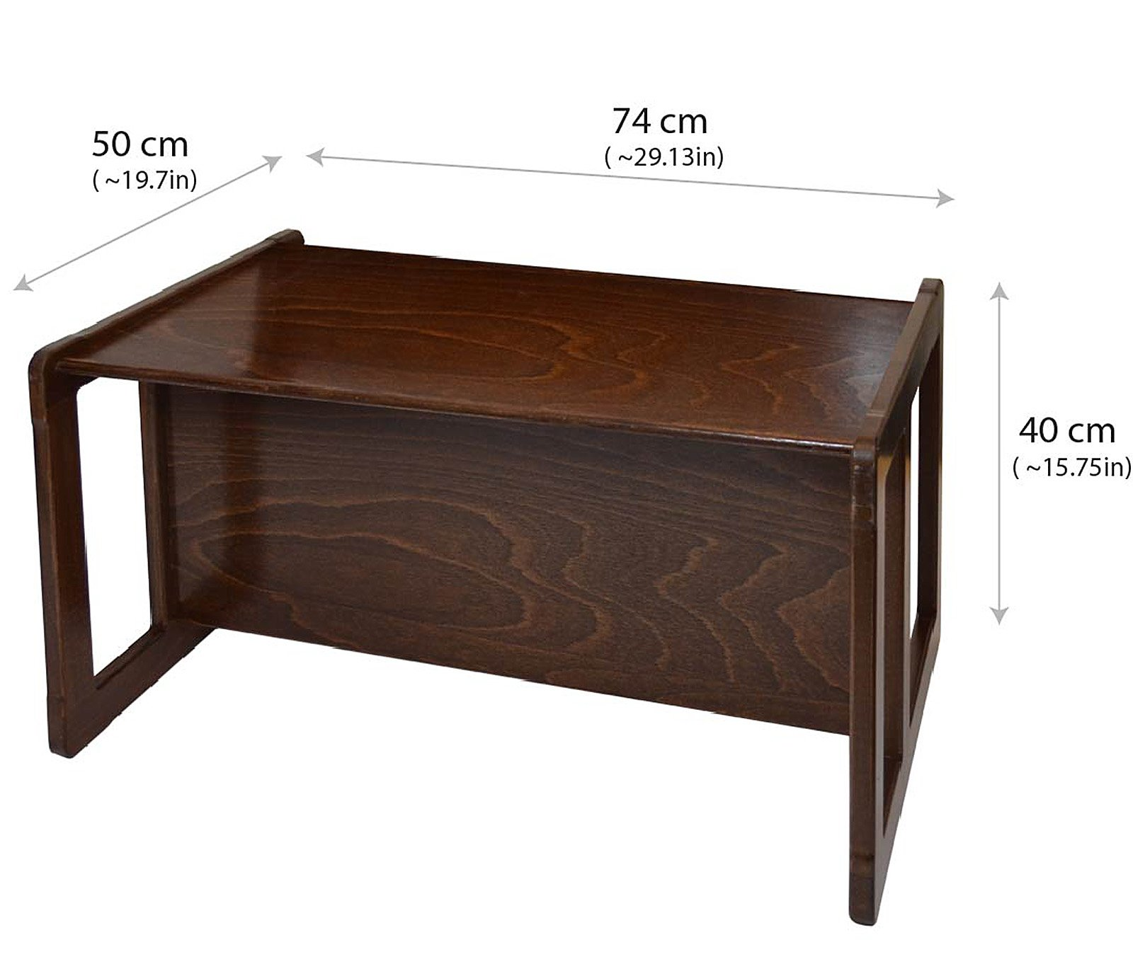 3 in 1 Childrens Multifunctional Furniture Set of 4, Two Small Chairs or Tables and One Small Bench or Table and One Large Bench or Table Beech Wood, Dark Stained by Obique Ltd (Image #3)