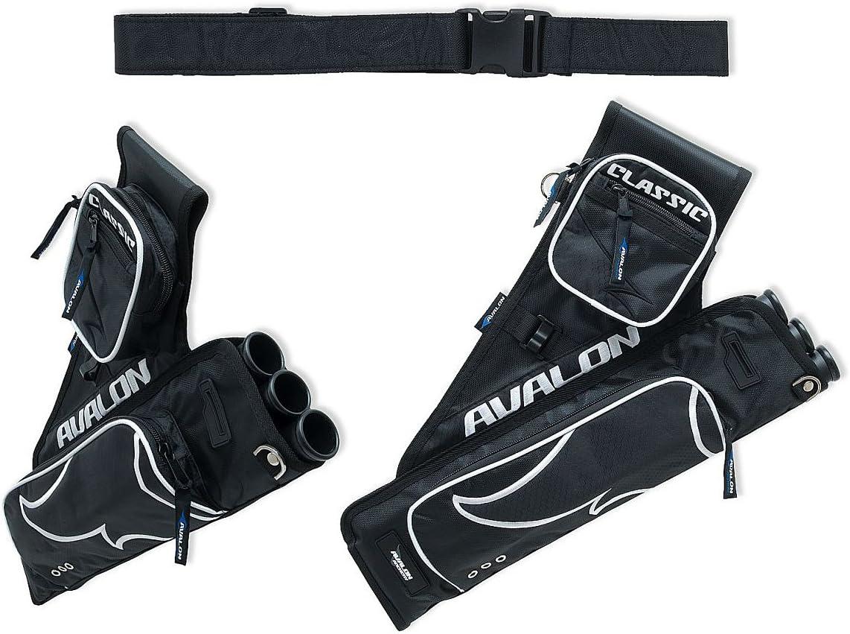 Color Negro Avalon Classic QTA-A-SL610-301 FITA WA Carcaj para Tiro de Arco Archery Quiver