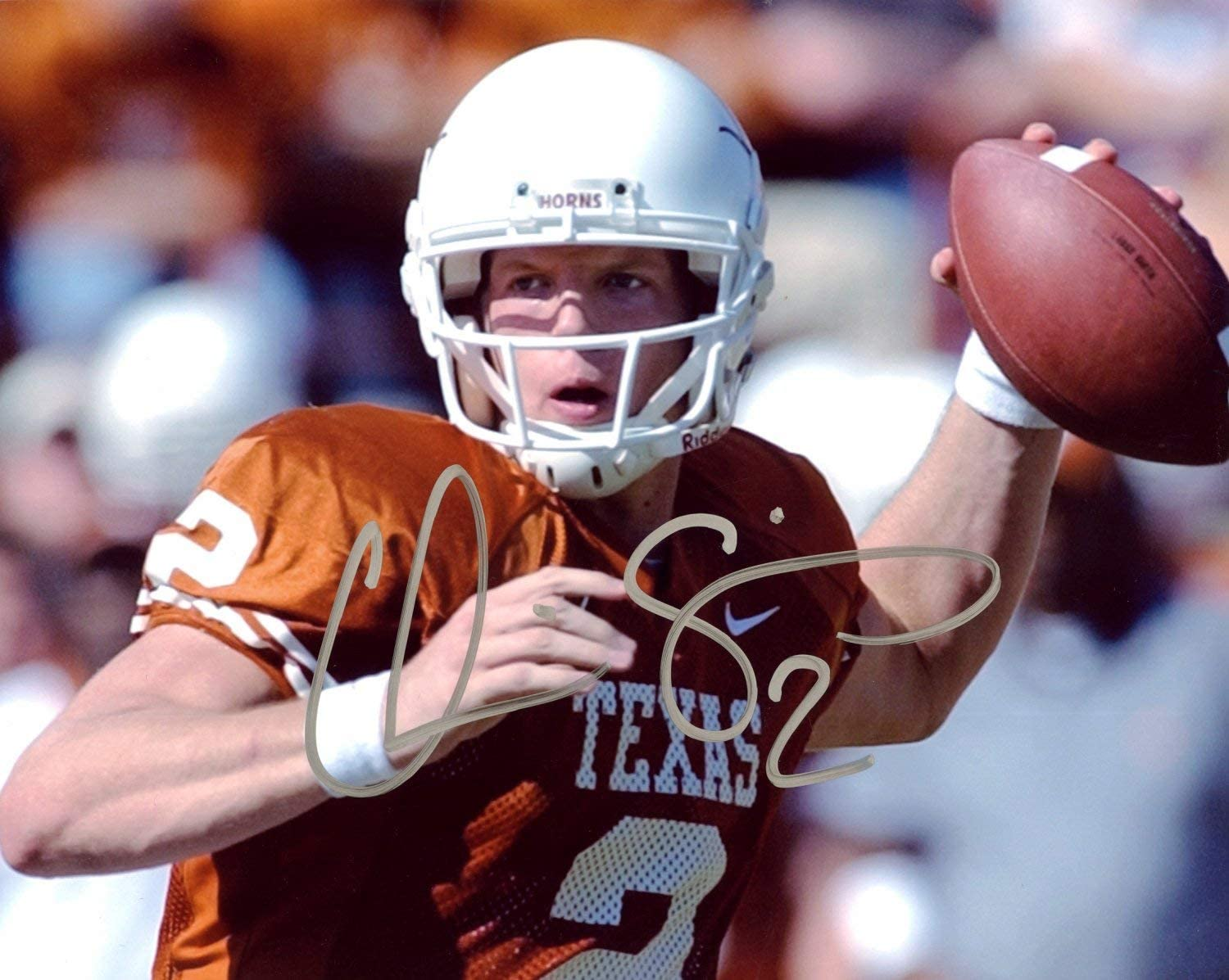 Chris Simms Texas Longhorns Autographed Signed 8x10 Photo Certified Authentic