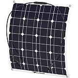 ソーラーパネル 50W ALLPOWERS 18v 12v 単結晶 ソーラーチャージャー 曲げ可能 solar city 太陽光発電 防水 防振 防塵 RV ボート キャビン テント等に対応 ソーラー充電器
