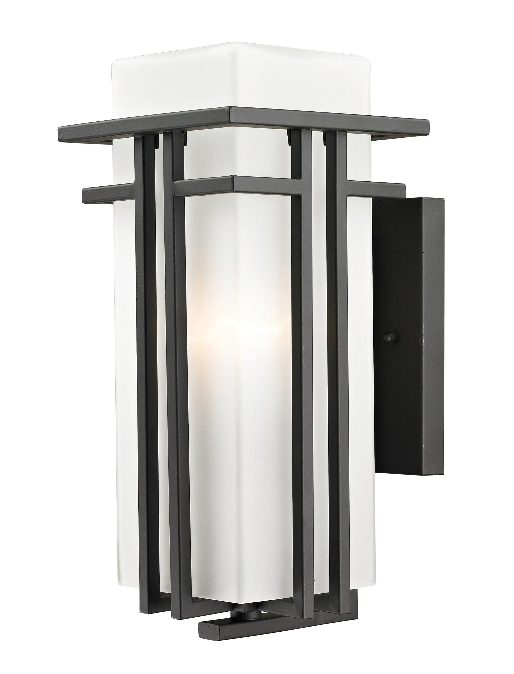 Z-Lite 550M-ORBZ Outdoor Wall Light and Matte Opal shade, Glass