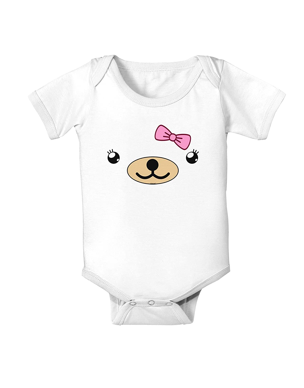 Beartholomea Cute Girl Bear Infant One Piece Bodysuit TooLoud Kyu-T Face
