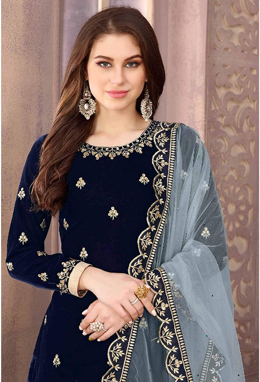 Bollywood Salwar Kameez Suit Indian Pakistani Anarkali Gown Dress New Ethnic LF