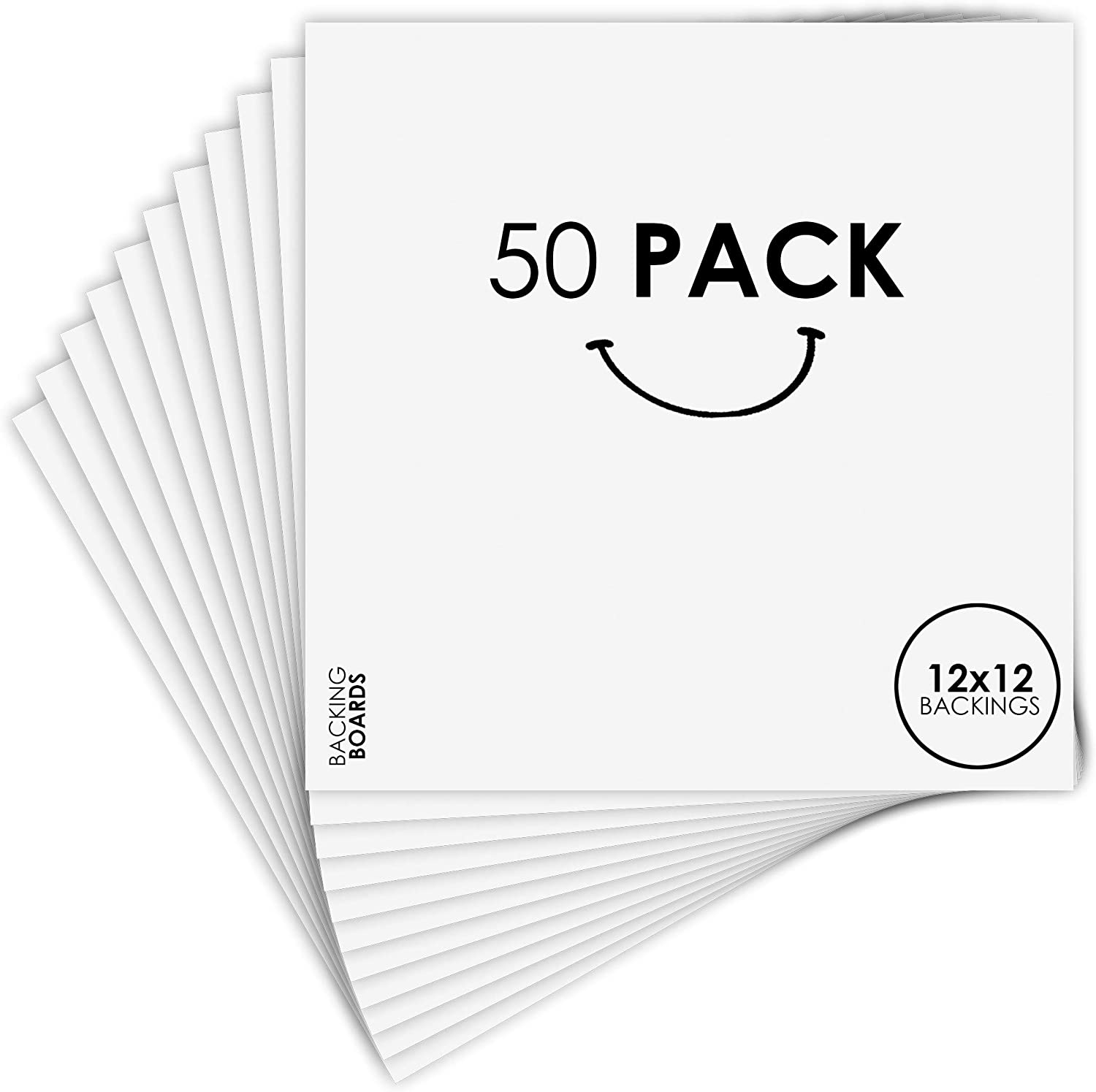 Set of 50 12x12 Backing Board