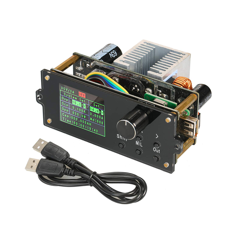 KKmoon Serie DPX Pantalla a color de 1.8 pulgadas Volt/ímetro constante ajustable por CNC Fuente de alimentaci/ón M/ódulo reductor Amper/ímetro de voltaje integrado 0-60.00V 0-5.000A DPX6005S