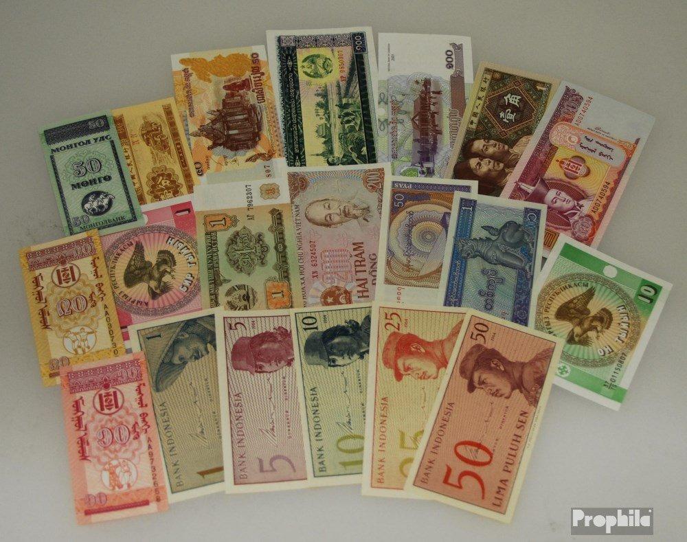 Asia 20 diferentes billetes fuera Asia (billetes para los coleccionistas) Prophila Collection