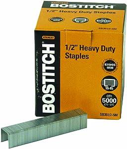 Bostitch Office SB351/2-5M Heavy Duty Premium Staples, 55-85 Sheets, 0.5-Inch Leg, 5,000 Per Box(Packaging may vary)