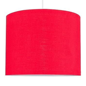 MiniSun – Moderna pantalla de color rojo, tamaño pequeño y forma cilíndrica – para lámpara de techo o lámpara de mesa