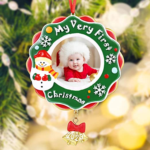 2020 First Christmas Picture Frame Amazon.com: Baby's First Christmas Ornament Gifts 2020 My Very