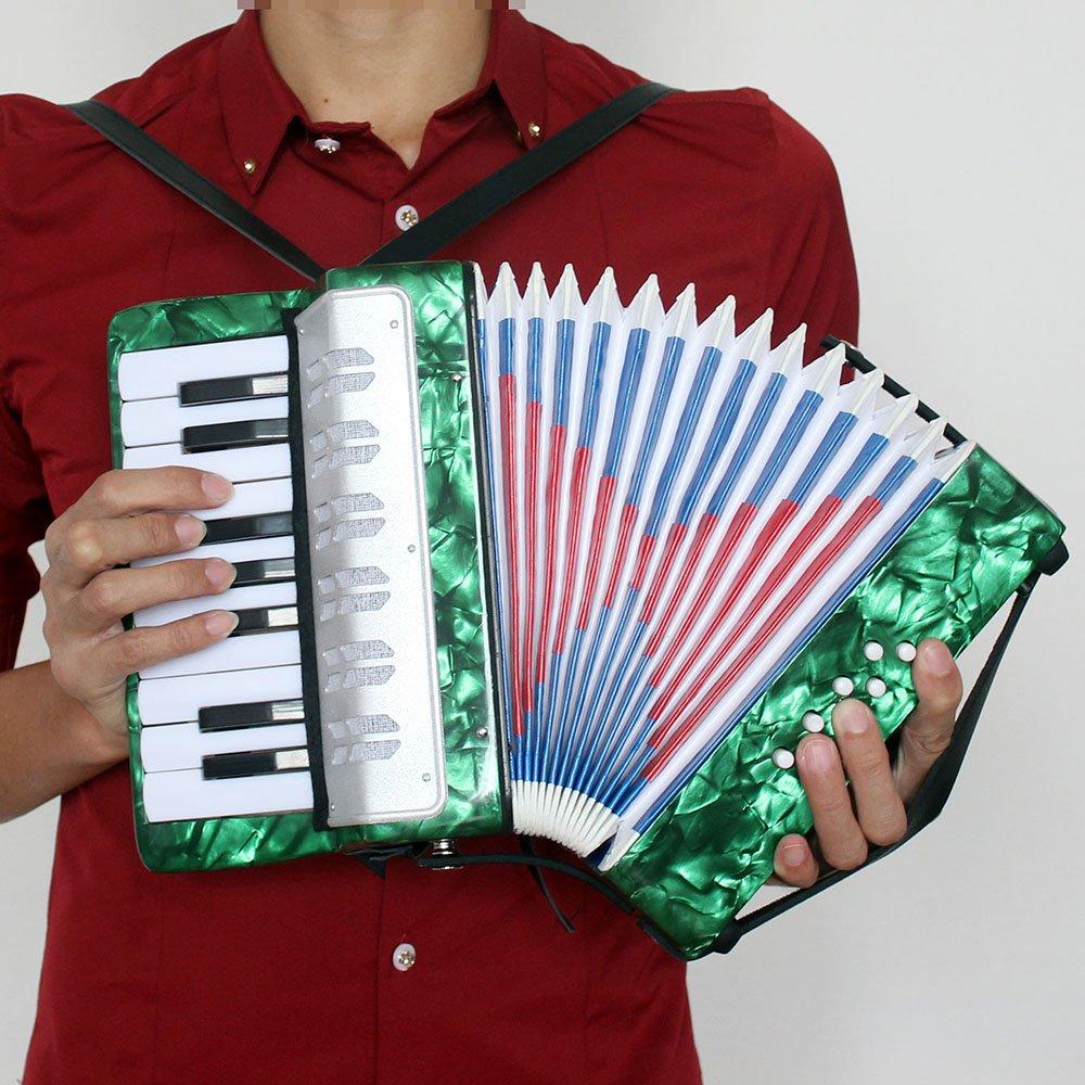 Ammoon Mini kleines Akkordeon 17-key 8/Bass Musikinstrument Bildung Spielzeug f/ür Kinder Anf/änger Amateur-Kinder Weihnachtsgeschenk gr/ün
