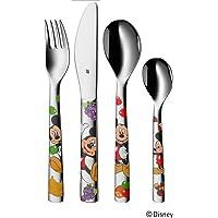 WMF 福腾宝 儿童餐具 迪斯尼 米奇系列 4件套 适合三岁以上儿童 Cromargan优质不锈钢 抛光处理 洗碗机适用 不褪色 食物不易掉落