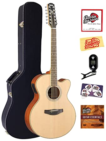 Yamaha CPX700-12 12-String Cutaway Acoustic-Electric Guitar Bundle with Hardshell Case