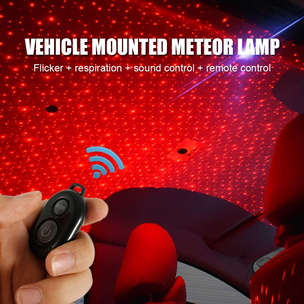 Stronghigheu Car Atmosphere Lamp IP4 Waterproof LED Interior Ambient Star Light USB Romantic Decoration for Car Home Party Festival
