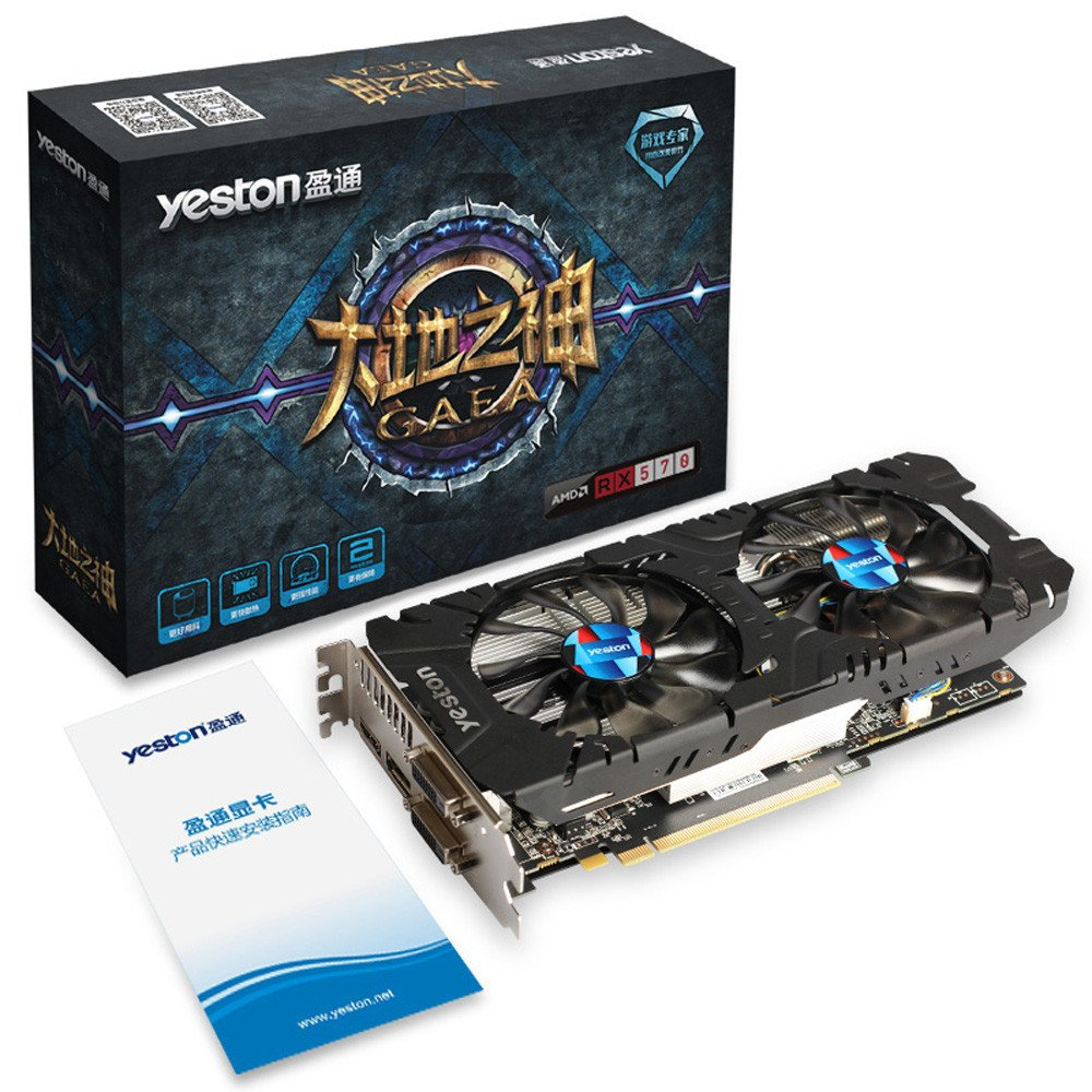 Tarjeta gráfica, Yeston RX 570-4G D5 Graphics Mother Earth ...