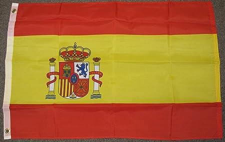 2 x 3 pies de bandera de España español bandera nacional País Nueva f527: Amazon.es: Hogar