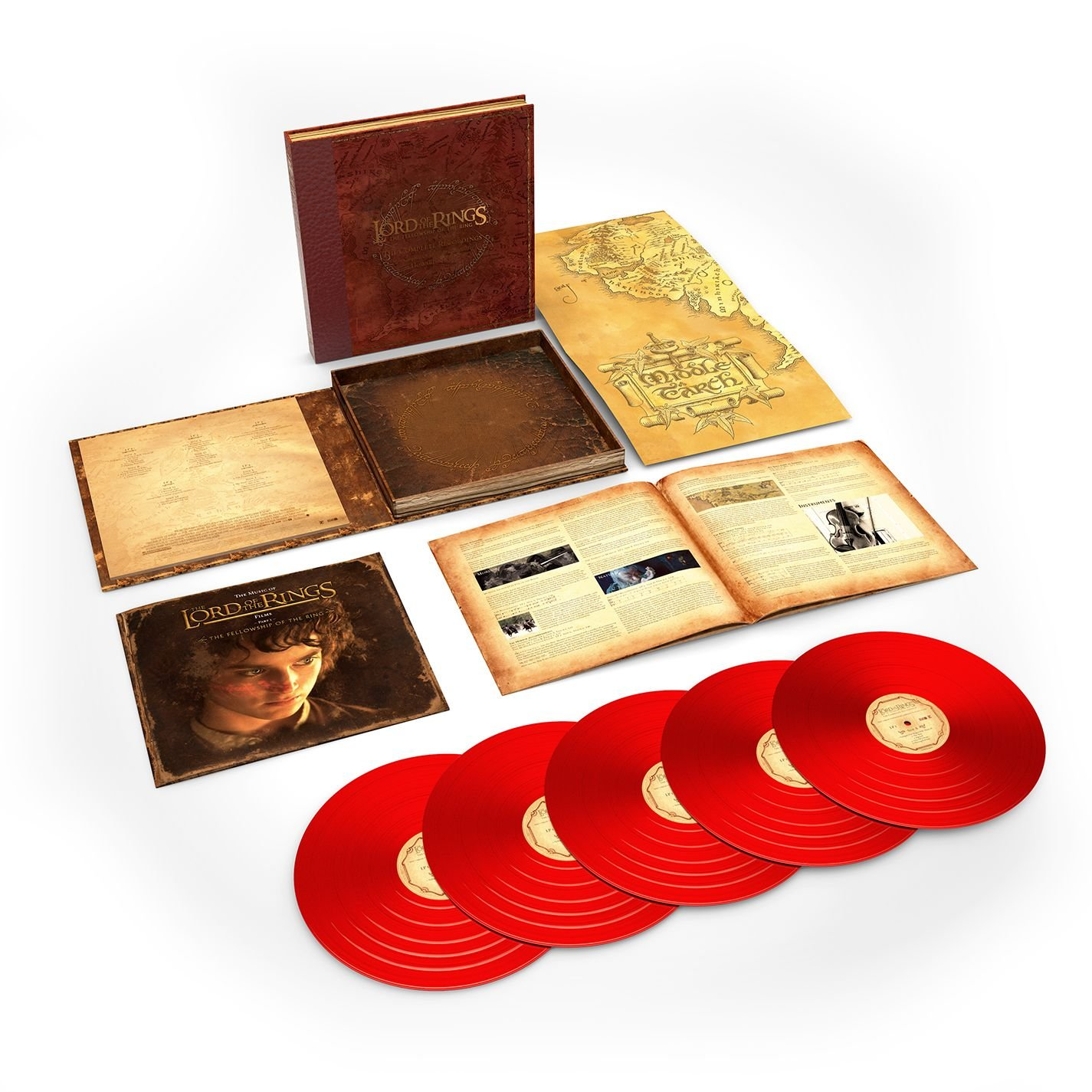 The Lord Of The Rings: The Fellowship Of The Ring - The Complete Recordings (5LP 180 Gram Red Vinyl) by Rhino/Warner Bros.