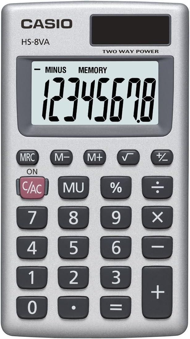 Casio HS-8VA, Solar Powered Standard Function Calculator