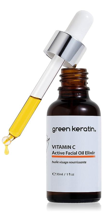 Vitamina C (tetrahexyldecyl Ascorbato) activo Elixir Aceite Facial + Granada Bio, Baobab,
