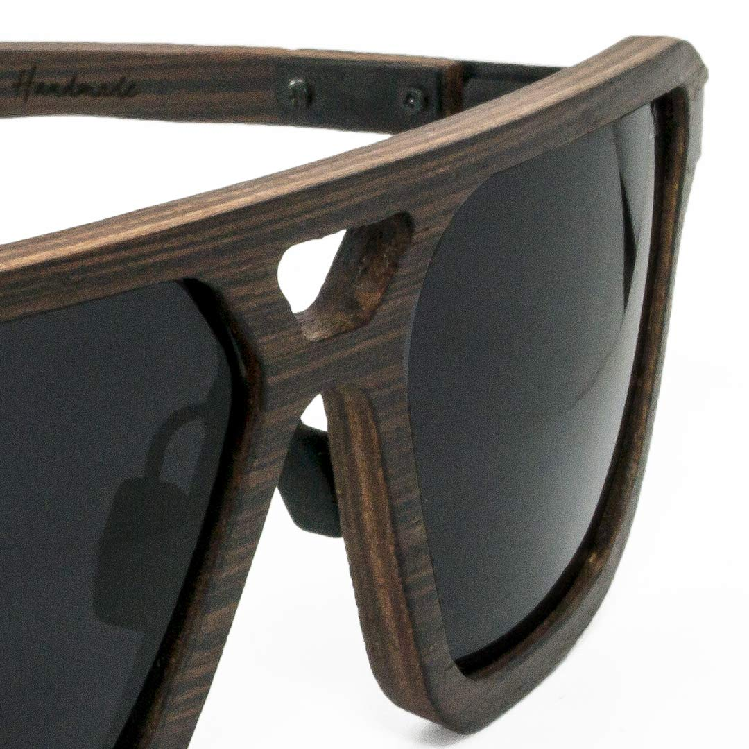 84e2b21b38f4f Amazon.com  FENTO WOODEN SUNGLASSES LINCOLN (Ash