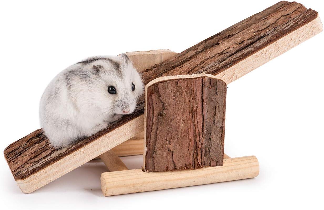 Niteangel Natural Wood Hamster Seesaw