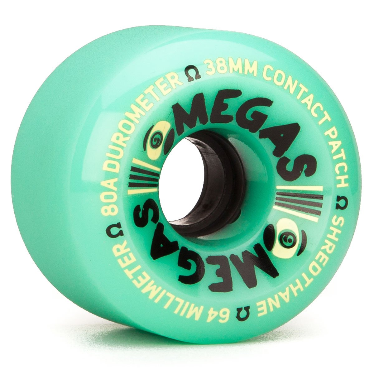 Sector 9 Omegas Longboard Wheels – 64 mm 80 a – ティール   B01CKUO0C6