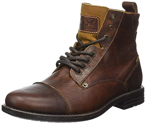 62fa9bd086ce30 Levi's Emerson M Brown Mens Leather Mid Ankle Army Boots-45: Amazon ...