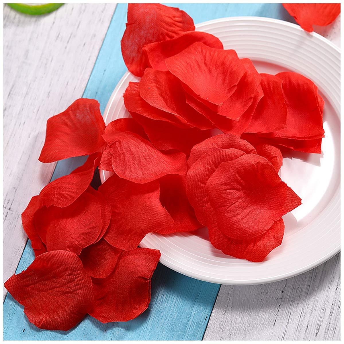 3 X 2000pc White Silk Rose Petals Wedding Flowers Favors