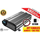 KRIËGER 2000 Watt 24V Power Inverter - Dual 110V AC outlets, Automotive back up power supply for refrigerators, microwaves, Blenders, vacuums, power tools and more. MET approved to UL and CSA.