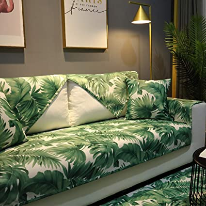 Amazon.com: YEARLY Leaf Waterproof Sofa Cover, Floral ...