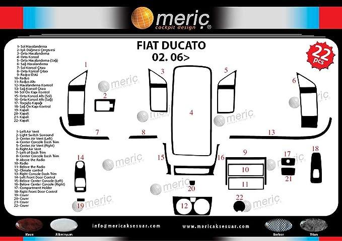 3d exclusivo cabina decoración para Fiat Ducato desde año construido 02/2006 22 piezas: Amazon.es: Coche y moto