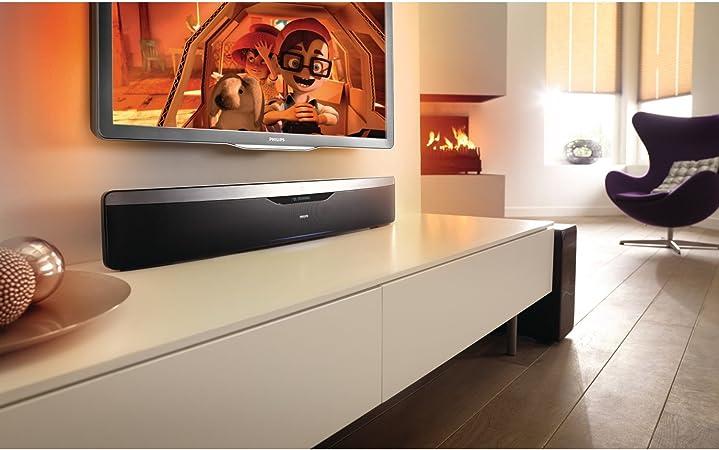 Philips HTS7140/12 SoundBar Sistema de Cine en casa Reproducción de BLU-Ray en 3D con Ambisound (Negro): Amazon.es: Electrónica