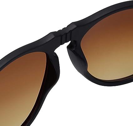 confezione doppia La Optica B.L.M UV400 Occhiali da sole da uomo rotondi stile retr/ò Pipel