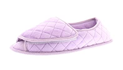 Image result for Coralee Womens Diabetic Shoes,Edema Wide Open Toe Slippers for Women,Non Slip