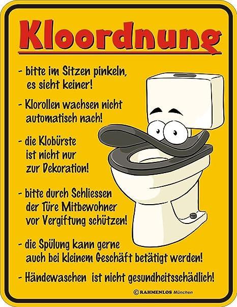 Original sin marco, Cartel de chapa KLOORDNUNG: por favor ...